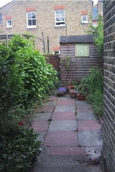garden before - Garden Design Long Narrow Plot