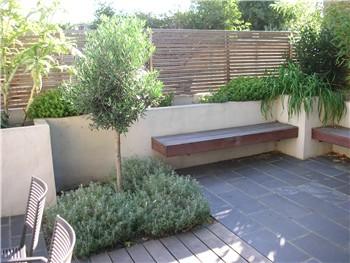 Cedar Trellis Is Used Along The Neighbouring Boundary To Make A Light Screen